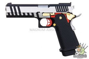 AW Custom HX21 Series Double Barrel Hi-Capa 1911 Gas Blowback Pistol - Two Tone
