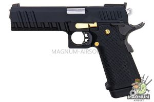 AW Custom HX21 Series Double Barrel Hi-Capa 1911 Gas Blowback Pistol - Black