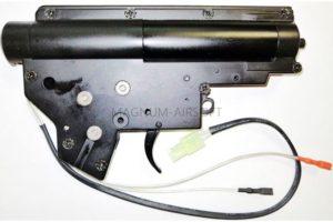 ГИРБОКС в сборе ver2 QD ZCAIRSOFT M-41A - быстрая замена пружины, 8mm втулки, микрик, проводка назад