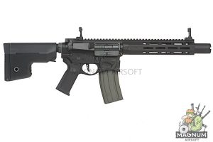 EMG Sharps Bros 'Warthog' Licensed Full Metal Advanced AEG Rifle - 10 inch SBR Black (by ARES)