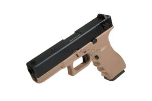 PISTOLET PNEVM. KJW GLOCK G18 GBB GAS avt. met. slayd model KP 18 TAN 5 300x200 - Пистолет KJW GLOCK G18 GBB GAS, авт., мет. слайд, модель - KP-18-MS-TAN