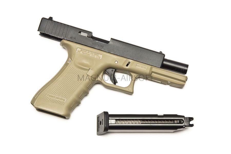 Пистолет WE Glock 18C Gen.4 TAN GGBB (GP617B (TAN)