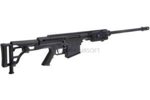 ВИНТОВКА BARRET M98B SNOW WOLF AEG, металл, пластик, без оптики, сошки SW-016 BK