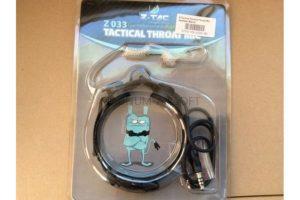 Ларингофон Z Tactical Tactical Throat Mic Headset (Black) Z033-BK
