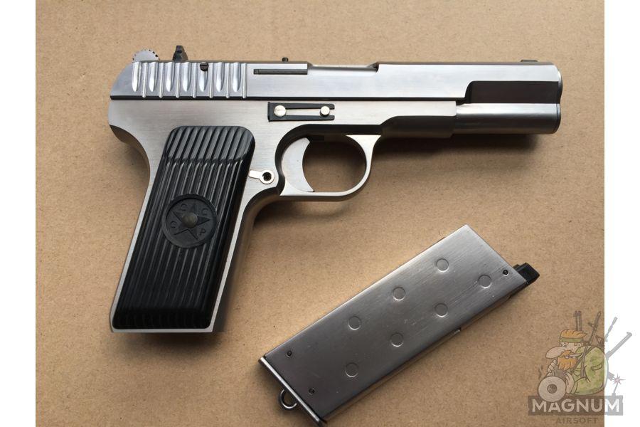 IMG 4751 - Пистолет WE ТТ хромированный WE-E012-TT33-SV / GP122(SV)