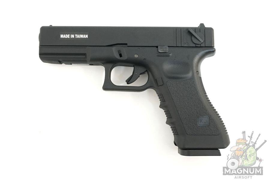KP 18 MS BK 1 - Пистолет KJW GLOCK G18 GBB GAS - KP-18-MS-BK