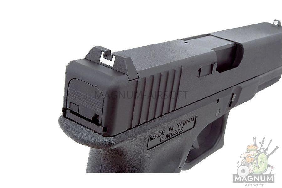 KP 18 MS BK 10 - Пистолет KJW GLOCK G18 GBB GAS - KP-18-MS-BK