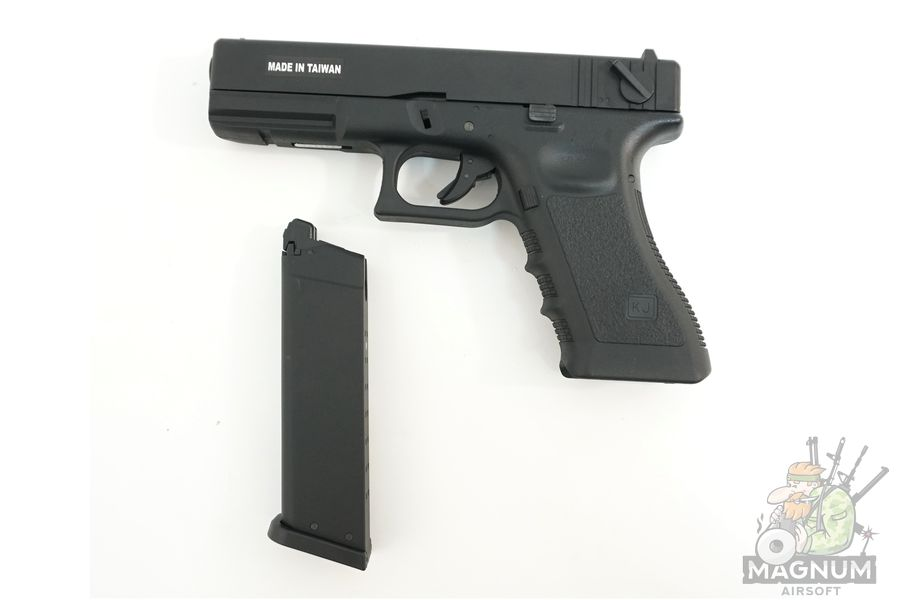 KP 18 MS BK 4 - Пистолет KJW GLOCK G18 GBB GAS - KP-18-MS-BK
