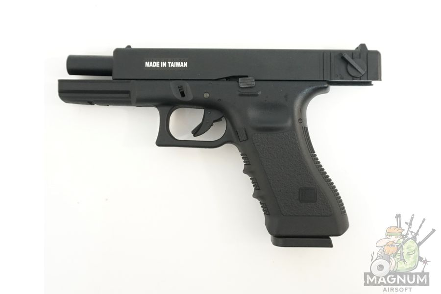 KP 18 MS BK 5 - Пистолет KJW GLOCK G18 GBB GAS - KP-18-MS-BK