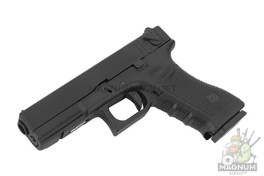 KP 18 MS BK 9 - Пистолет KJW GLOCK G18 GBB GAS - KP-18-MS-BK