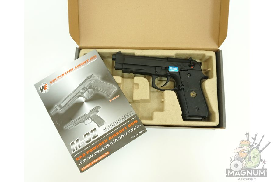 Pistolet WE BERETTA M92F WE M008 BK 3 - Пистолет WE BERETTA M92F WE-M008-BK / GP321