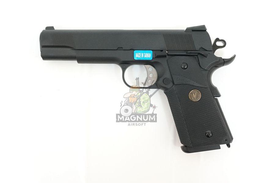 WE E008A BK 1 - Пистолет WE COLT M1911А1 M.E.U. Black, GP111, WE-E008 / WE-047
