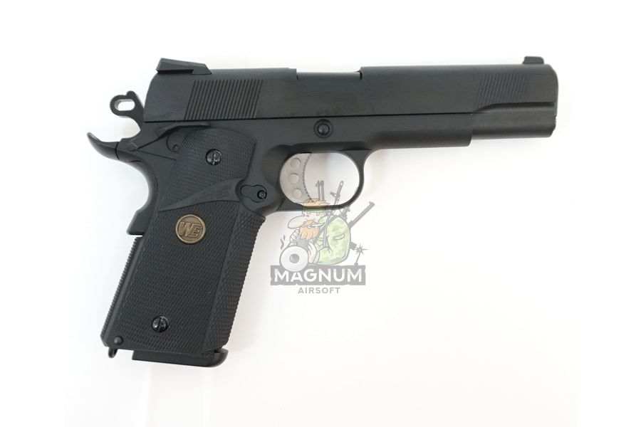 WE E008A BK 2 - Пистолет WE COLT M1911А1 M.E.U. Black, GP111, WE-E008 / WE-047