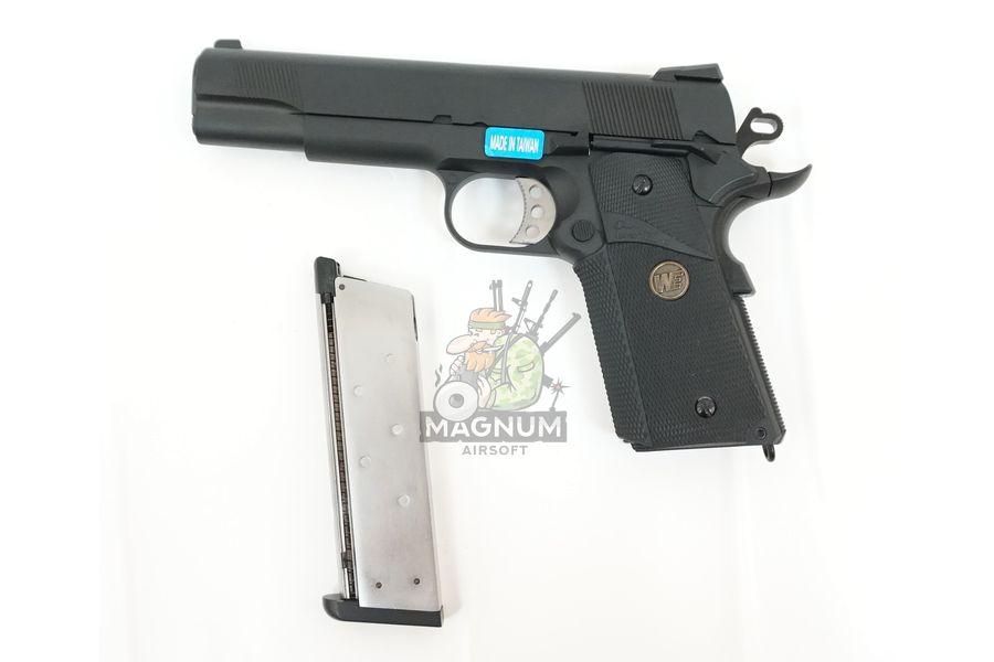 WE E008A BK 3 - Пистолет WE COLT M1911А1 M.E.U. Black, GP111, WE-E008 / WE-047