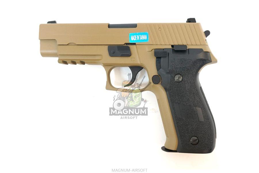 WE F003 TAN 1 - Пистолет WE SIG SAUER P-226 MK25 WE-F003-TAN / GP431 (TAN)