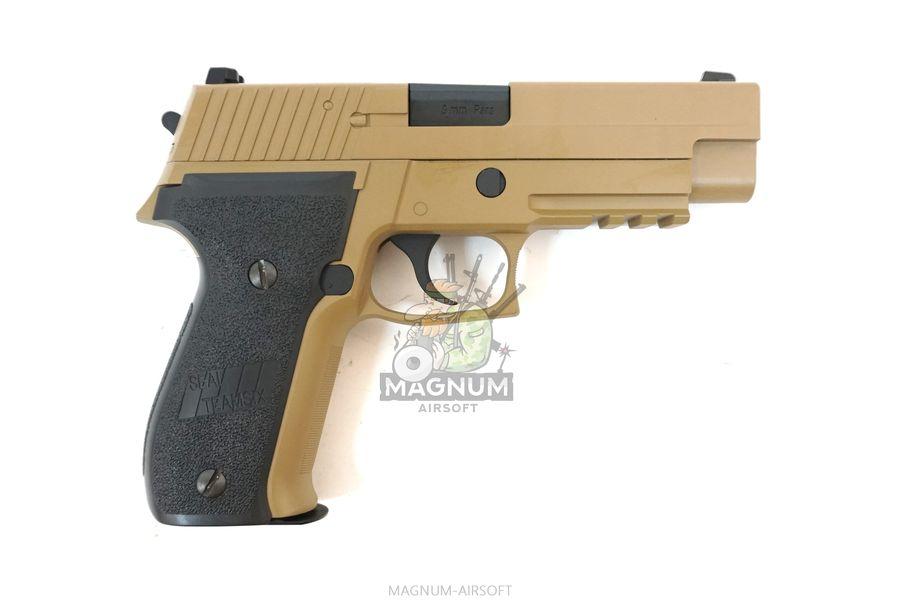 WE F003 TAN 2 - Пистолет WE SIG SAUER P-226 MK25 WE-F003-TAN / GP431 (TAN)