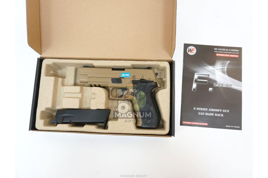 WE F003 TAN 3 - Пистолет WE SIG SAUER P-226 MK25 WE-F003-TAN / GP431 (TAN)