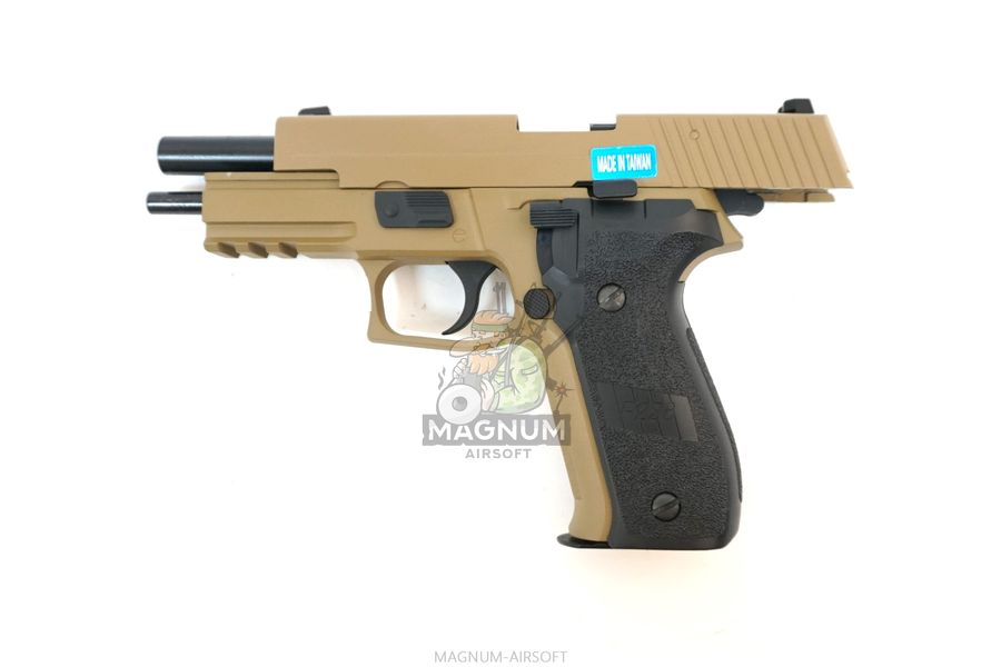 WE F003 TAN 4 - Пистолет WE SIG SAUER P-226 MK25 WE-F003-TAN / GP431 (TAN)