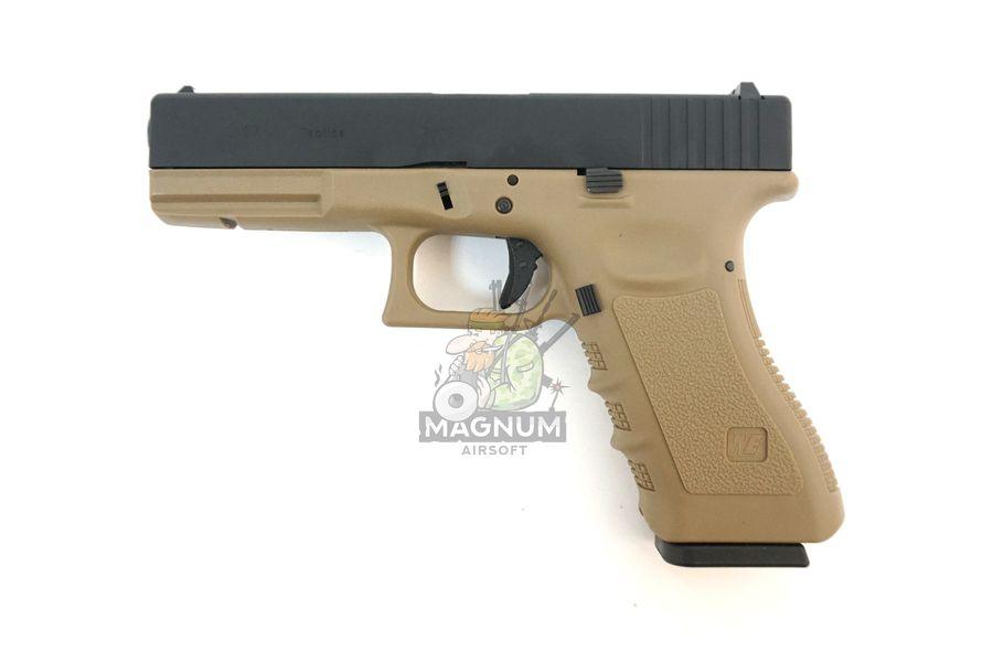 WE G001A TAN 1 - Пистолет WE GLOCK-17 gen3 WE-G001A-TAN / GP616(TAN)