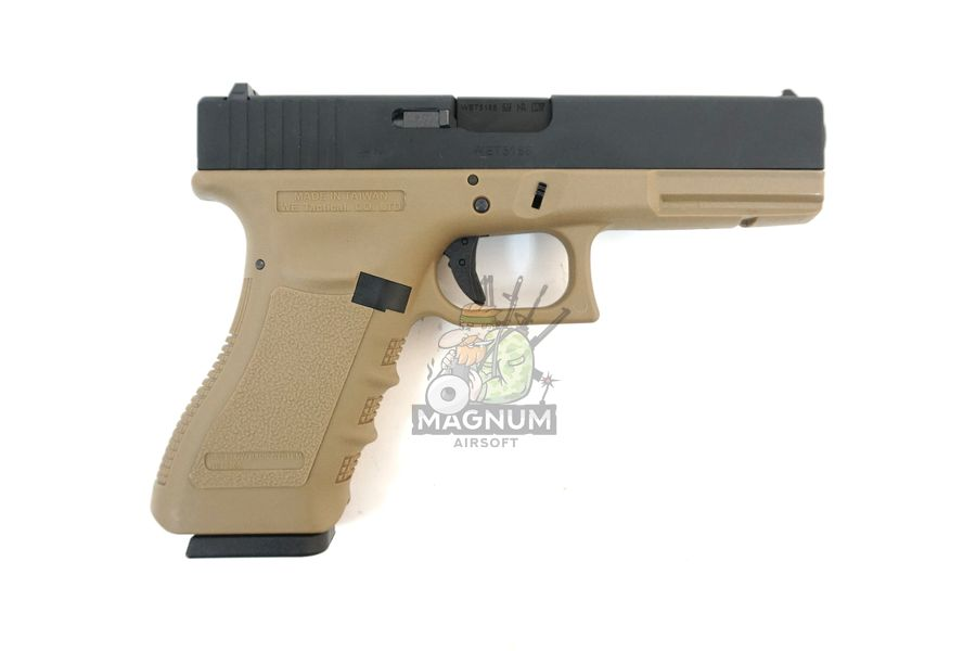WE G001A TAN 2 - Пистолет WE GLOCK-17 gen3 WE-G001A-TAN / GP616(TAN)
