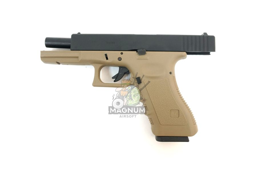 WE G001A TAN 4 - Пистолет WE GLOCK-17 gen3 WE-G001A-TAN / GP616(TAN)