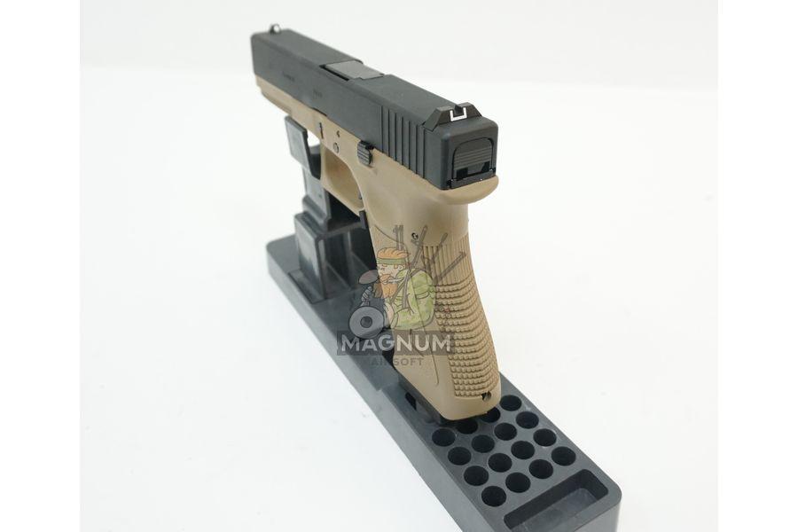 WE G001A TAN 6 - Пистолет WE GLOCK-17 gen3 WE-G001A-TAN / GP616(TAN)