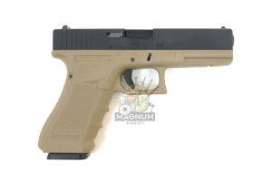 WE G001B TAN 2 300x200 - Пистолет WE GLOCK-17 gen4 WE-G001B-TAN / GP616-B(TAN)