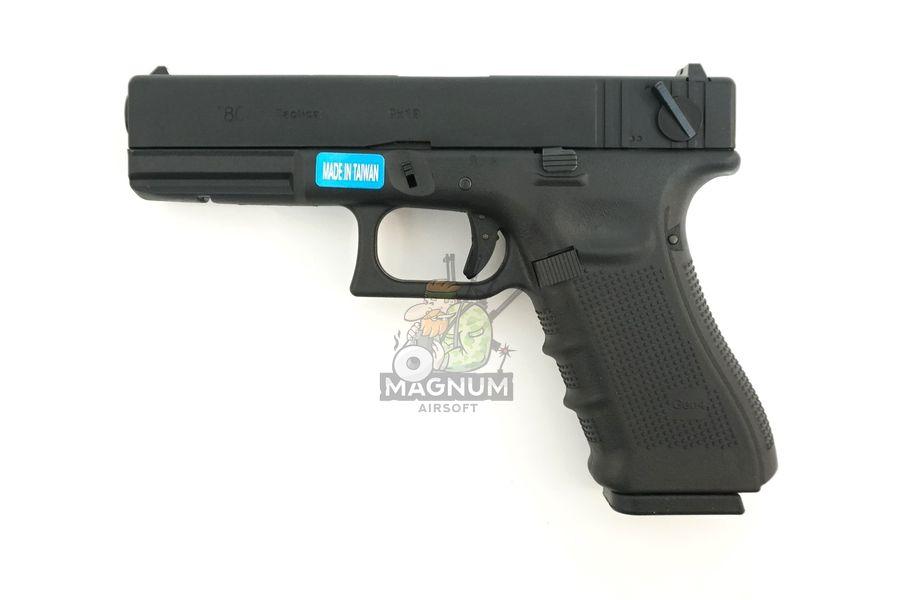 WE G002B BK 1 - Пистолет WE GLOCK-18 gen4 WE-G002B-BK / GP617B