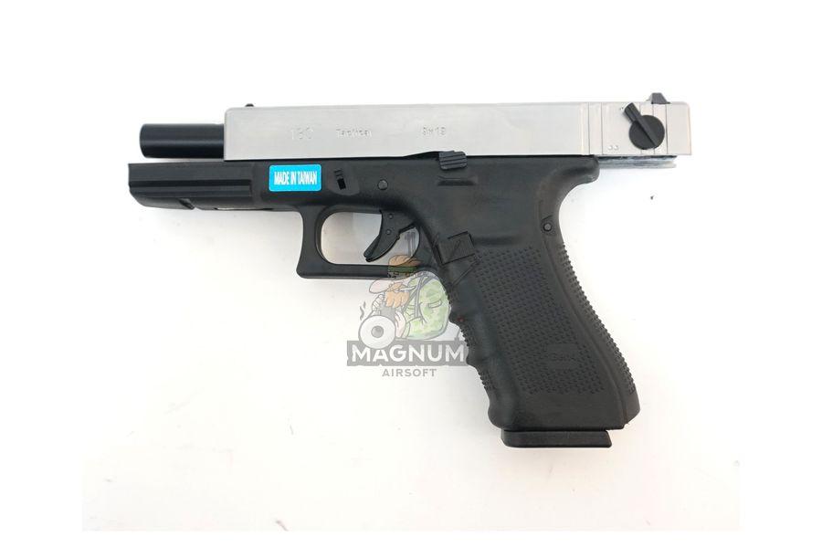 WE G002B SV 4 - Пистолет WE GLOCK-18 gen4 WE-G002B-SV / GP617B-SV