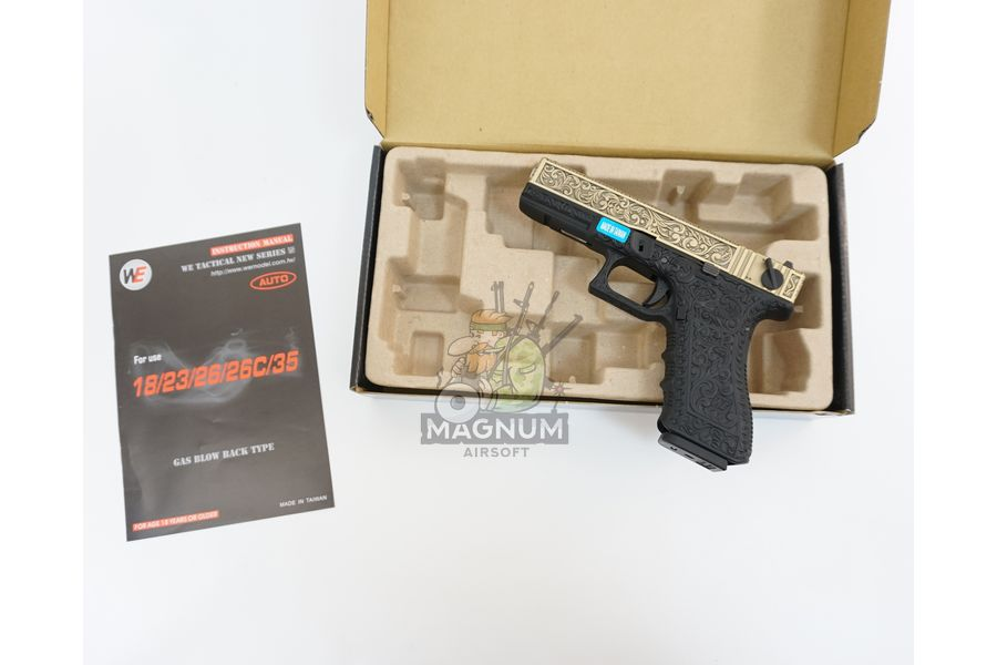 WE G002BOX BR 3 - Пистолет WE GLOCK-18 gen3 WE-G002BOX-BR
