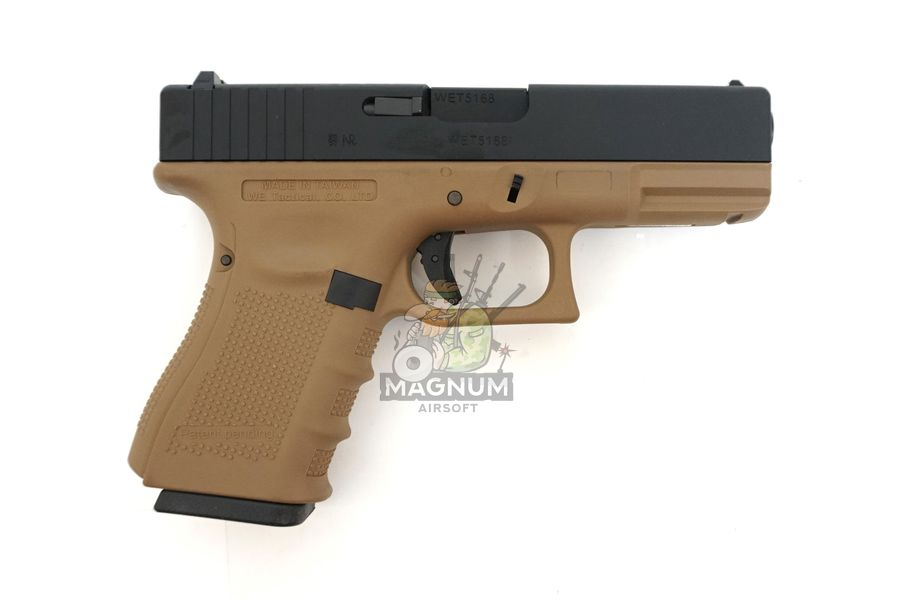 WE G003B TAN 2 - Пистолет WE GLOCK-19 gen4 WE-G003B-TAN / GP619B-TAN