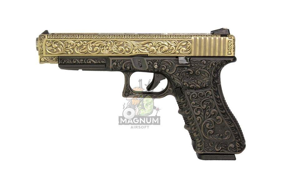 WE G008BOX BR 1 - Пистолет WE GLOCK-34 gen3 WE-G008BOX-BR