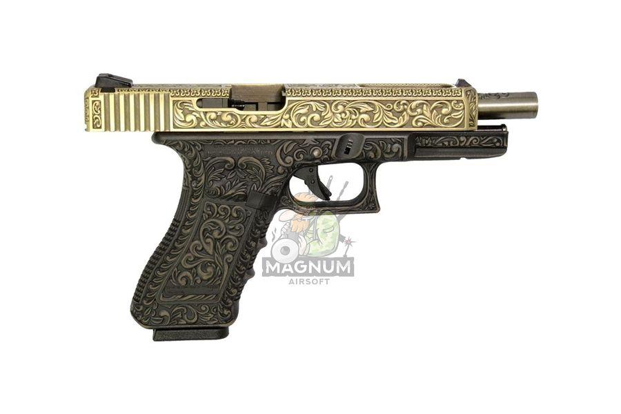 WE G008BOX BR 5 - Пистолет WE GLOCK-34 gen3 WE-G008BOX-BR