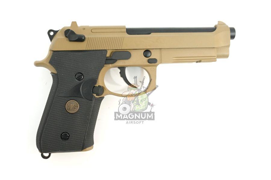 WE M009 TAN 2 - Пистолет WE BERETTA M92F WE-M009-TAN / GP301(TAN)