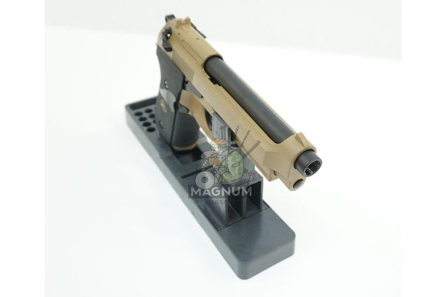 WE M009 TAN 4 - Пистолет WE BERETTA M92F WE-M009-TAN / GP301(TAN)
