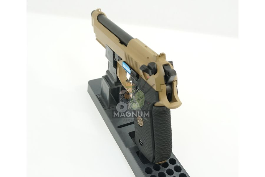 WE M009 TAN 5 - Пистолет WE BERETTA M92F WE-M009-TAN / GP301(TAN)