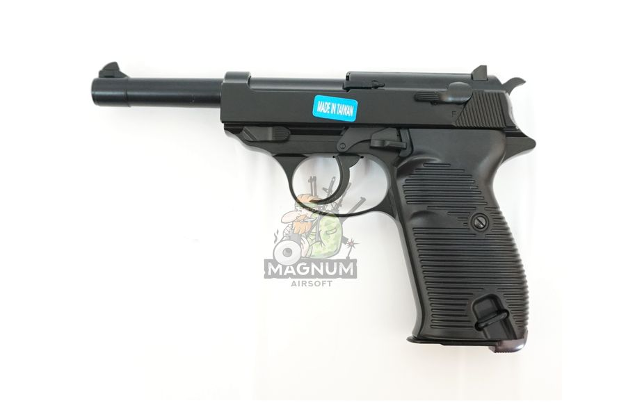 WE P010LBOX BK 1 - Пистолет WE WALTHER P38 GBB WE-P010LBOX-BK / GP124BB