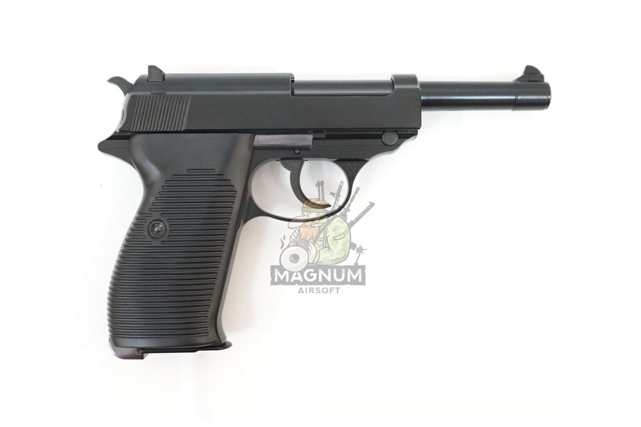 WE P010LBOX BK 2 - Пистолет WE WALTHER P38 GBB WE-P010LBOX-BK / GP124BB