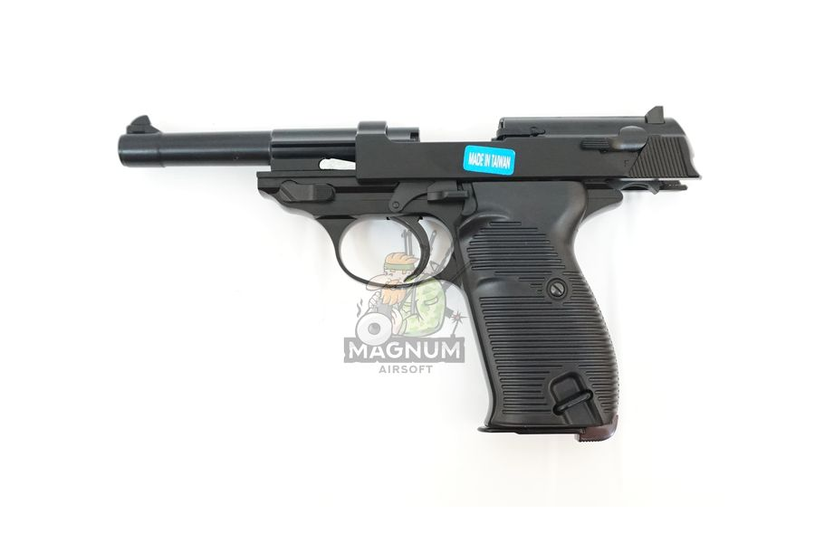 WE P010LBOX BK 3 - Пистолет WE WALTHER P38 GBB WE-P010LBOX-BK / GP124BB