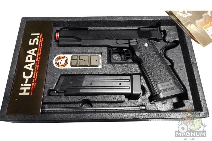 TOKYO MARUI COLT 1911 Hi Capa 5.1 6 - Пистолет TOKYO MARUI  COLT 1911 Hi-Capa 5.1 GBB, черный