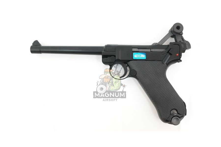 "WE P002 4 - Пистолет WE Luger P-08 6"" WE-P002 / GP402"
