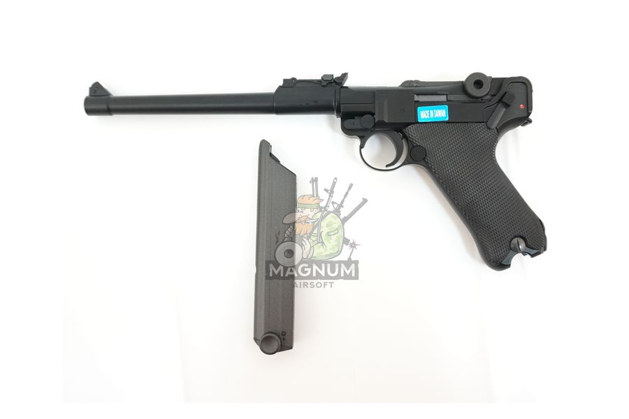"WE P003 3 - Пистолет WE Luger P-08 8"" WE-P003 / GP403"