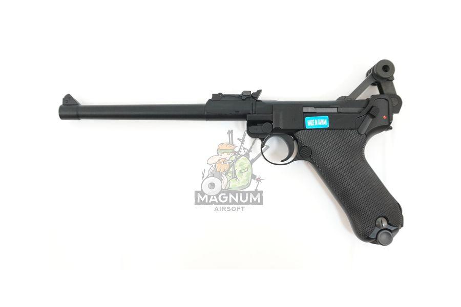 "WE P003 4 - Пистолет WE Luger P-08 8"" WE-P003 / GP403"