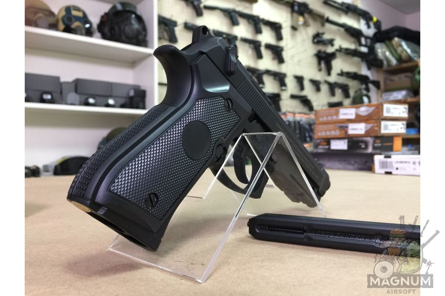 "IMG 7092 1 - Пистолет пневматический Stalker S92PL (аналог ""Beretta 92"") к.4,5мм, пластик, 120 м/с, черный"