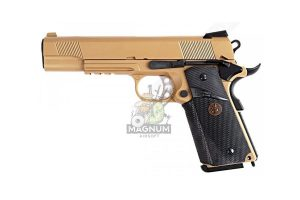 E008B TAN 1 300x200 - Пистолет WE COLT M1911А1 M.E.U. WE-E008B-TAN-M.E.U.-Rail-TAN