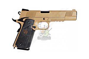 E008B TAN 2 300x200 - Пистолет WE COLT M1911А1 M.E.U. WE-E008B-TAN-M.E.U.-Rail-TAN