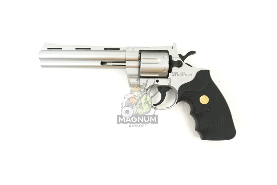 G.36S 1 - Пистолет Galaxy Colt Python Silver G.36S SPRING