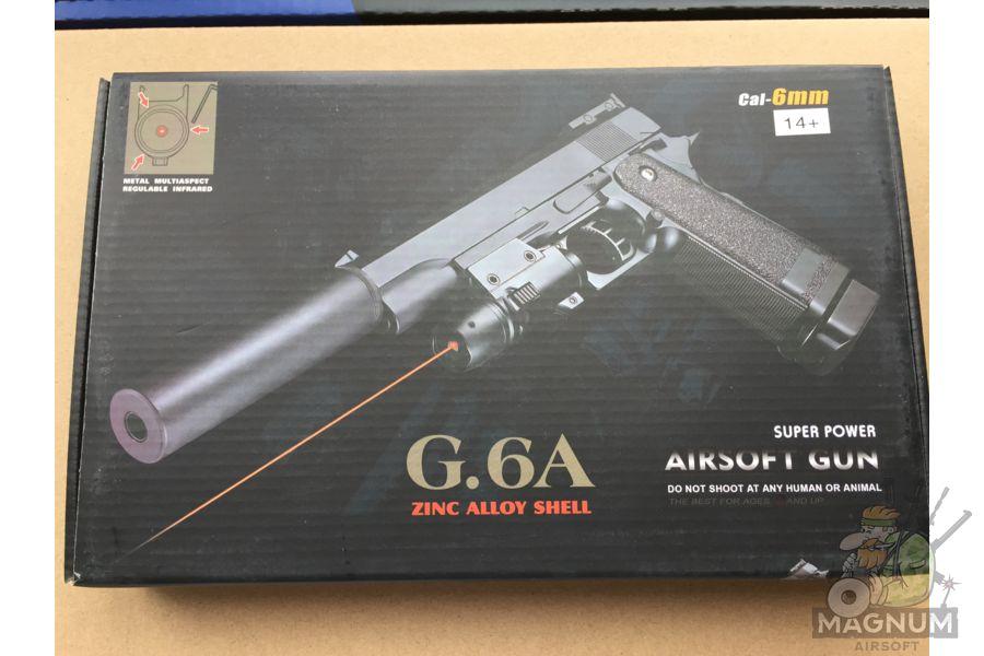 IMG 4730 - Пистолет Galaxy Colt Hi-Capa G.6A SPRING