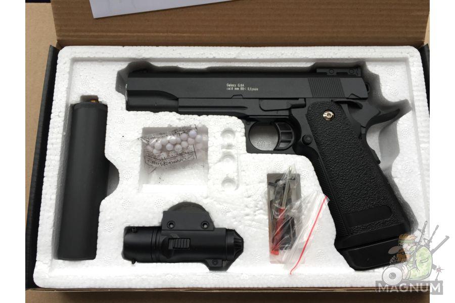 IMG 4731 - Пистолет Galaxy Colt Hi-Capa G.6A SPRING