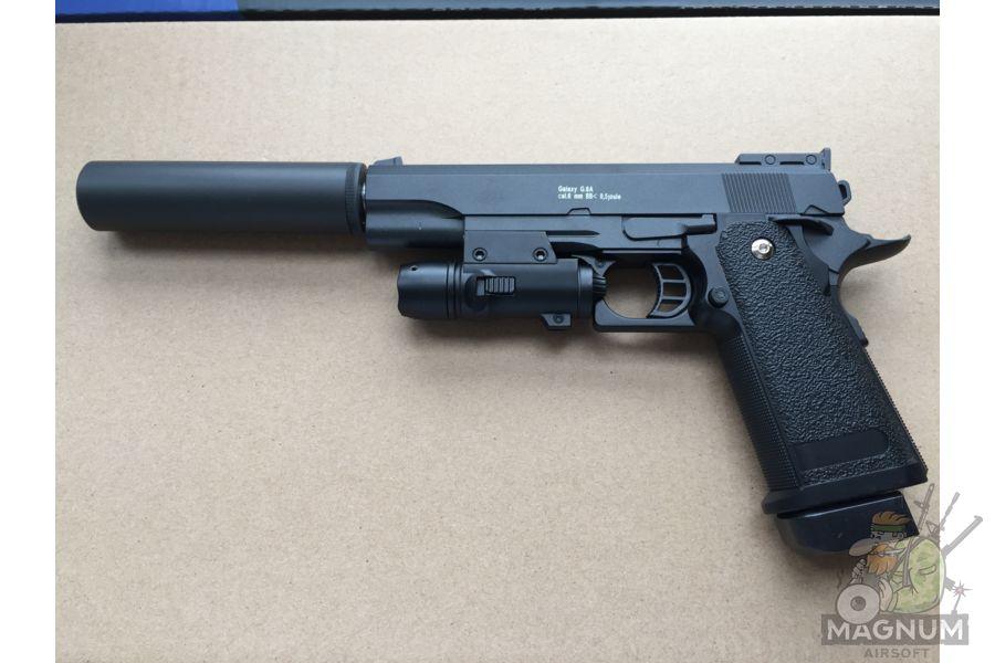IMG 4732 - Пистолет Galaxy Colt Hi-Capa G.6A SPRING